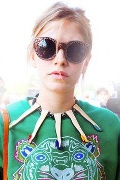fashion weeks, statement necklaces, elena perminova, street styles, fashion accessories, funny girls, new york fashion, street chic, style fashion