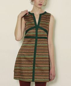 Take a look at this Green Folk Pichi Dress by Titis Clothing on #zulily today!