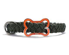 Sailors Knot Collar Loden & Orange $19.00