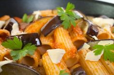 Chicago recipes...Rigatoni with Eggplant
