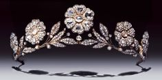 The Strathmore Rose Tiara. Lady Elizabeth Bowes-Lyon (the future Queen Elizabeth, the Queen Mother) received it as a gift from her father, the Earl of Strathmore, for her wedding in 1923,