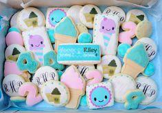 Ice Cream Theme Birthday Party Sugar Cookies