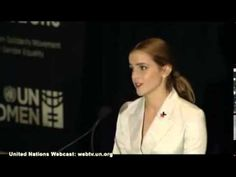 Emma Watson Calls for Men as Advocates for Gender Equality | HeForShe - YouTube She gives a really good speech and makes some really good points. I hope this gets a ball rolling.