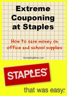 Extreme Couponing at Staples
