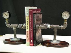 Steampunk Bookends. $70.00, via Etsy.