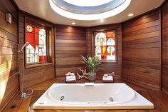 Master bedroom features a skylight & spa-like bath. Hillcrest Estate, Oakland.