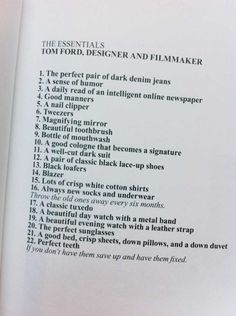 The Essentials - Tom Ford