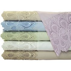 Grace Home Fashions 600tc Lace Easy Care Sheet Set - jcpenney