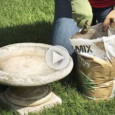 Turn a birdbath into a planter! Watch here: http://www.bhg.com/videos/m/85235382/turn-a-birdbath-into-a-planter.htm?socsrc=bhgpin082714birdbathtoplanter