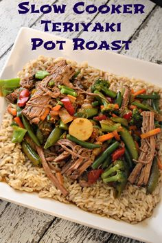 Slow Cooker Teriyaki Pot Roast