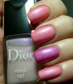 Dior Bloom 777, Bouquet 457 and Perlé 187 - from the Dior Trianon Collection for Spring 2014   Pointless Cafe