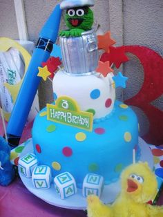 Cake from a Sesame Street party #sesamestreet #party