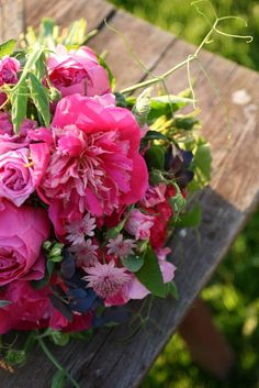 summer flowers, bouquet, pink flowers, dreams, beauti pink, garden, floral, pink peonies, country