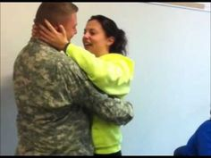Dad, Home From Iraq, Surprises Daughter in Class for Christmas