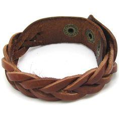 Brown Leather Cross Weave Bracelet by jewelrybraceletcuff on Etsy, $4.99