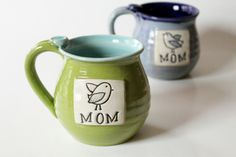 One Mom Mug, MADE to ORDER,  Put a Bird on It, Mama Bird,