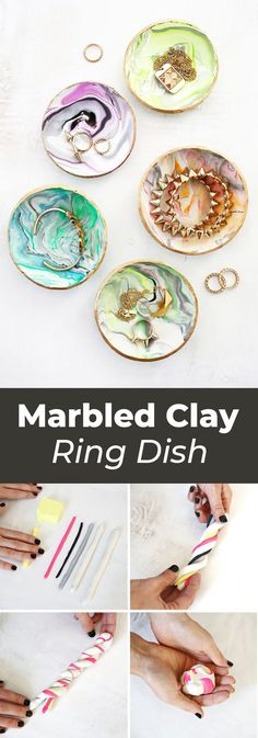 Marbled Clay Ring Di