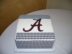 Alabama Cake.  Football Birthday cake photos. The best football cakes on Pinterest and the best football cakes on the web! Football cake ideas such as Football Stadium cakes, football field cakes, football helmet cakes, and football logo cakes. #football #cakes #gifts