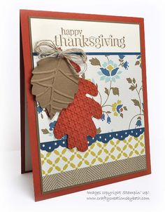 Crafty Creations by Beth: Thanksgiving Card