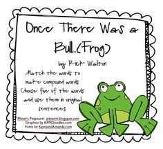 classroom idea, compound words, school stuff, teach stuff, ela, common core, frogs, classroom freebi, 2nd grade