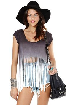 Find More T-Shirts Information about 2014 Sale Punk Atacado Roupas Femininas Women Hanging with Gradient Effect of Laser Cutting Fringed Hem Short sleeved T shirt,High Quality T-Shirts from Woman the clothes closet on Aliexpress.com