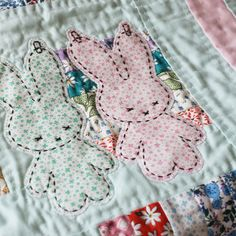 baby quilts, nanacompani, appliqu