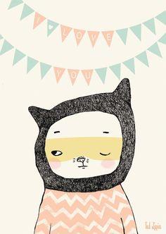 Tad Lapin I love you cat