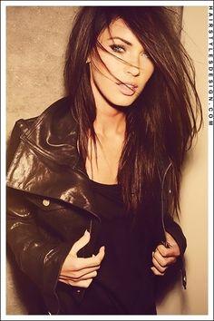 Megan Fox straight hairstyle