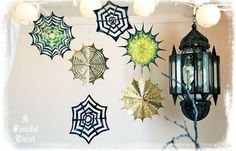 A Fanciful Twist: Wickedly Wonderful Paper Spider Webs {2 Tutorials}