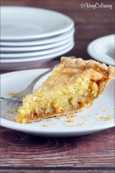 Macadamia Nut Butterscotch Cookie Pie on www.veryculinary.com