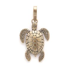 Bronze Sea Turtle Charm by BlackSparrowSupply on Etsy, $9.00