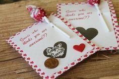 Scratch-off Valentine cards!