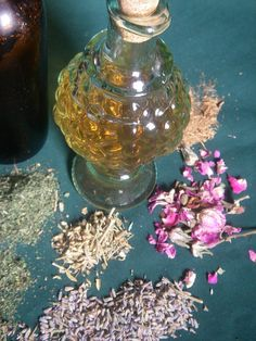 Medieval Rose Healing Herbal Vinegar  by Treasach, herbs steeped in vinegar have been used to tone skin and hair, as well as freshen garments and households.