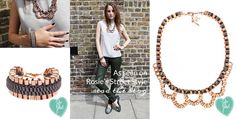 Rosie Fortescue wears our John & Pearl Loop necklace and Alyssa bracelet - featured on Rosie's At Fashion Forte blog