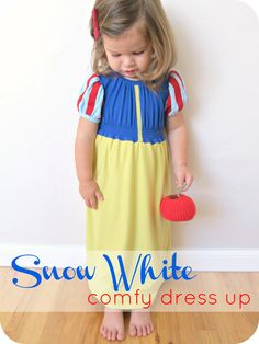 homemade by jill: comfy dress-up: snow white dress