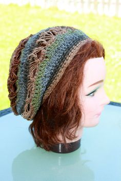 Woman Crochet Slouchy Hat Broomstick Lace Slouchy by KetisCrochet, $35.23