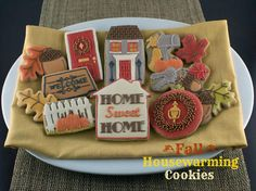 Fall Housewarming Cookies