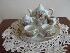 Dainty Vintage Miniature Tea Set For Dolls Japan  by TheToyBox, $20.00