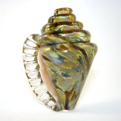 Lampwork  Seashell Focal Bead