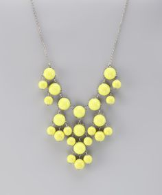 Take a look at this Yellow & Silver Bubble Necklace on zulily today! $7.99