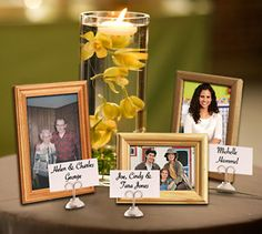 When special family members and friends are not able to attend the wedding, hold them close by featuring their photos at the wedding reception. You can print the photos at Kodak Picture Kiosk. #wedding #photography #ideas