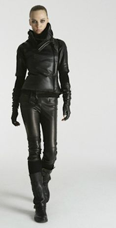 Kaufman Franco what is it about leather? sexy leather pants leather jacket leather gloves leather boots