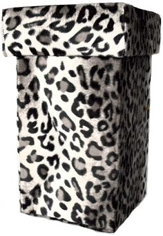 Snow Leopard Toilet Tissue Caddy with lid.  Hide those extra rolls from sight, but keep them easy to reach.  $46.00