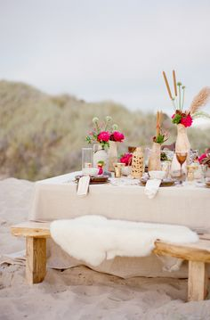 Romantic Beach picnic set up to propose to his wife to be :-)