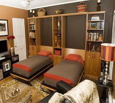 Murphy beds - Fold out beds..perfect for guests when you don't have that extra room
