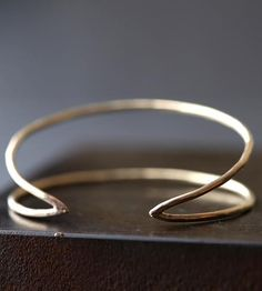 Arrow Gold Cuff Bracelet by Alexis Russell