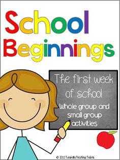 School Beginnings- The first week of school