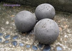 """How To Make Hypertufa-Concrete* Balls"""