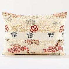 Block Print Patchwork Lumbar Throw Pillow | World Market