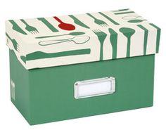 recipe box with cutlery design